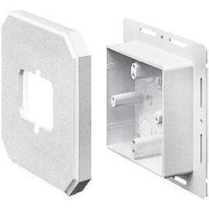 "Arlington 8091F Mounting Box, Vertical Mount, 1.625"" Deep, White, Non-Metallic"