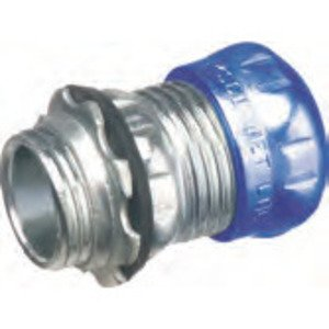 Arlington 821RT EMT Compression Connector, 3/4 inch, Raintight/Concrete Tight, Steel