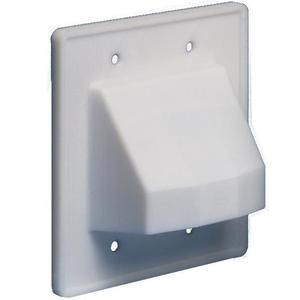 Arlington CE2 Cable Entrance Hood, 2-Gang, Reversible, White
