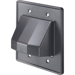 Arlington CE2BL Cable Entrance Hood, 2-Gang, Reversible, Black