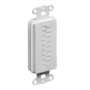 Arlington CED130 Wallplate Insert, Decora, Slotted Cable Entry, White