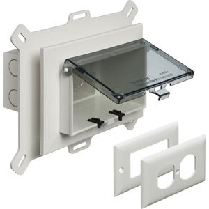 Arlington DBHS1C Weatherproof-In-Use Box, 1-Gang, Recessed, Horizontal, Non-Metallic