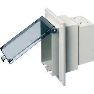 Arlington DBVR1C Weatherproof-In-Use Box, 1-Gang, Recessed, Vertical, Non-Metallic