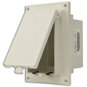 Arlington DBVR1W Weatherproof-In-Use Box, 1-Gang, Recessed, Vertical, Non-Metallic