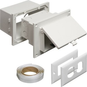 Arlington DHB1W Weatherproof-In-Use Box, 1-Gang, Recessed, Non-Metallic, White