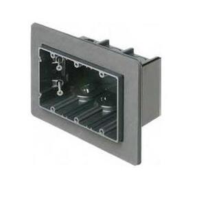 "Arlington F103F Switch Box, 3-Device, 3-1/2"" Deep, Non-Metallic"