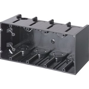 """Arlington F104 Switch/Outlet Box, 4-Gang, 3-1/2"""" Deep, New/Old Work, Non-Metallic"""