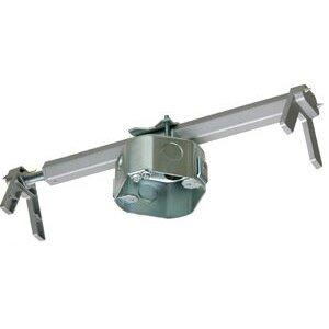 "Arlington FBRS4200R 4"" Octagon Ceiling Box with Hanger, 2"" Deep, KOs, Metallic"