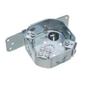 "Arlington FBS415S 4-1/4"" Octagon Ceiling Box with Bracket, , Depth: 1-1/2"", Metallic"