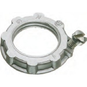 "Arlington GL75 Grounding Locknut, 3/4"", Zinc Die Cast"