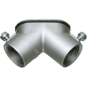 Arlington HL100 Pulling Elbow, 1 Inch, 90 Degree, Female/Female, Gasketed, With Cover, Zinc Die Cast, For Use With Rigid/IMC Conduit.