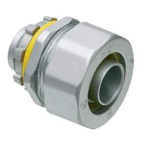 "Arlington LT50 Liquidtight Connector, Straight, 1/2"", Die Cast Zinc"