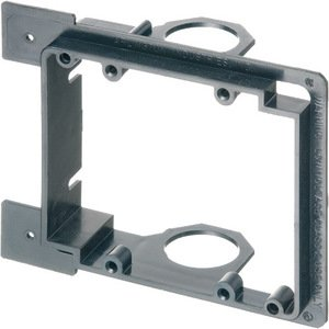 Arlington LVMB2 Mounting Bracket, 2-Gang, Low Voltage, Non-Metallic