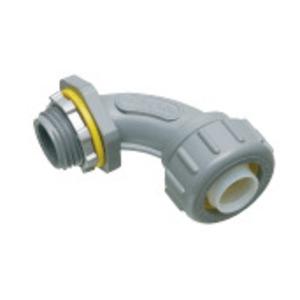"""Arlington NMLT9050BL Liquidtight Connector, 90°, 1/2"""", Non-Metallic"""