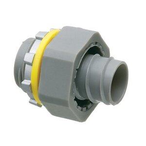 "Arlington NMSC50 Liquidtight Connector, Screw-On, Straight, 1/2"", Non-Metallic"