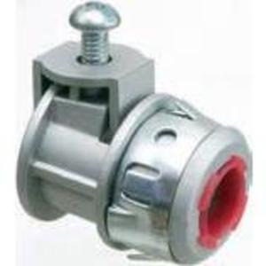 "Arlington SG38AST AC/Flex Connector, Insulated, Saddle Type, 3/8"", Zinc Die Cast"