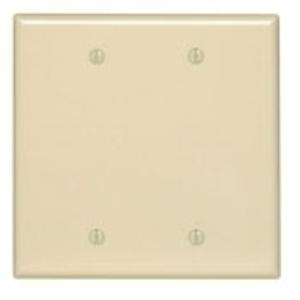 Arrow Hart PJ23W Blank Wallplate, 2-Gang, Plastic, White, Mid-Size