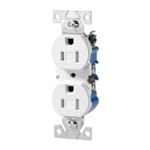 Arrow Hart TWR270W Tamper/Weather Resistant Duplex Receptacle, 15A, 125V, White