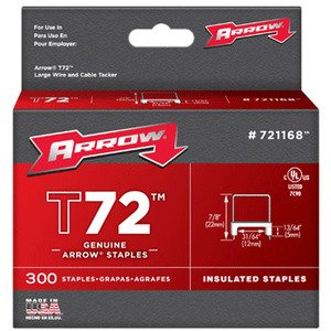 Arrow 721168 T72 Insulated Staple