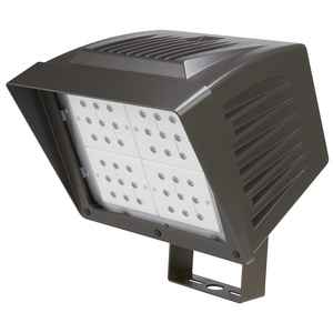 Atlas Lighting Products PFL84LED Flood Light, LED, 84.19W, 120-277V, Black
