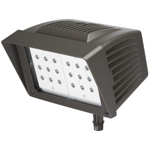 Atlas Lighting Products PFM43LED Flood Light, LED, 46.61W, 120-277V, Bronze