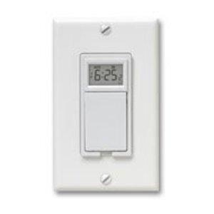 Aube Technologies TI035 Wall Switch, Programmable, Sunrise/Sunset, 20A, 120V, White