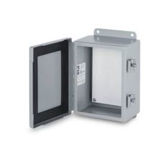 "Austin Electrical Enclosures AB-24129WS/MEC Enclosure, NEMA 3R, Hinged Cover, 24"" x 12"" x 9"", Wall Mount"