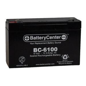 BCI BC-6100 Sealed Lead Acid Battery, 6V, 12A