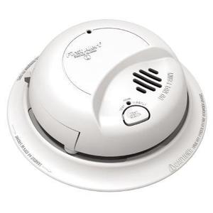 BRK-First Alert 9120B Smoke Detector, Ionization Sensor, 120V AC, White, 9V Battery Backup
