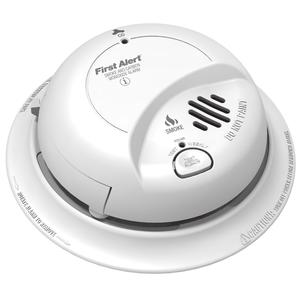 BRK-First Alert SC9120B Carbon Monoxide & Smoke Alarm, 120V AC/DC, 9V Battery Backup