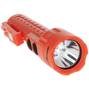 Bayco Products NSP-2422R Dual-Light Flashlight w/Dual Magnets, 130 Lumen, Red