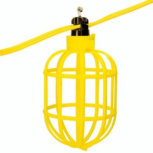 Bergen YFW-100 Temporary String Lighting, 100', 14/2 AWG Flat Wire, Lampholders on 10' Centers,