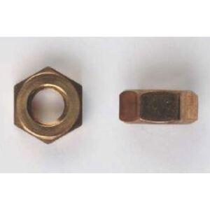 """Bizline 1420HNSB Hex Nut, 1/4"""", Silicone Bronze, 100/PK"""