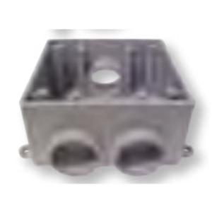 """Bizline 2FSCC075 FS Device Box, Type: FSCC, 2-Gang, Size: 3/4"""", Non-Metallic"""