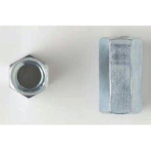 "Bizline 34RCZ Threaded Rod Coupling, 3/4"", Steel, Zinc Plated, 25/PK"