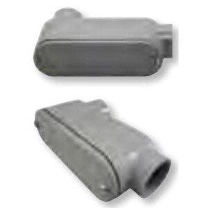 """Bizline 350LB Conduit Body, Type LB, Size 3-1/2"""", Cover/Gasket, PVC"""