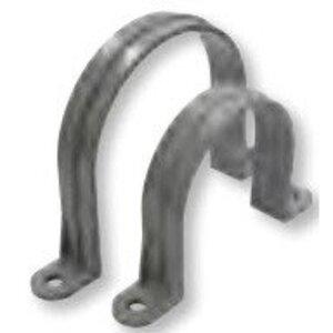"""Bizline 400CONDCLMP2HOLE Conduit Strap, 2-Hole, Size: 4"""", Material: PVC"""