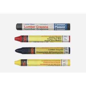 Bizline 66404 Marking Crayon, Black, 12-Pack