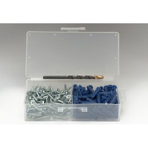 "Bizline 8706E Blue Conical Plastic Anchor Kit, Pan Head Combo, #6 x 1"""