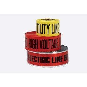 """Bizline BZL302 Non-Detectable Underground Caution Tape, 3"""" x 1000', Red"""