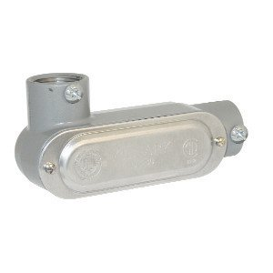 "Bizline BZLCOLL2CG Type LL Conduit Body, Rigid/EMT, Aluminum, 3/4"", Cover & Gasket"