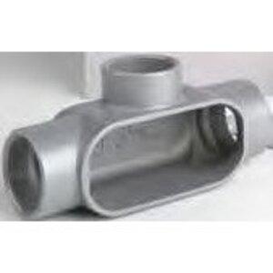 "Bizline BZLCOT1CG Conduit Body, T, 1/2"", Aluminum, Threaded/Set-Screw"