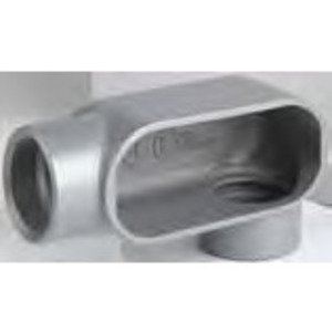 "Bizline BZLOLL1CG Conduit Body, Type LL, 1/2"", Aluminum, Form 5, Cover/Gasket Included"