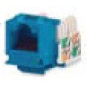 Bizline C5EJBLU Snap-In Jack, T568A/B, CAT5e, Keystone, Blue