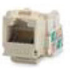 Bizline C5EJIVY Snap-In Jack, T568A/B, CAT5e, Keystone, Ivory