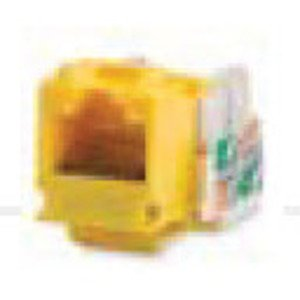 Bizline C5EJYEL Snap-In Jack, T568A/B, CAT5e, Keystone, Yellow