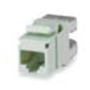 Bizline C6JWHT Snap In Connector, Keystone, Cat 6, T568A/B, Gigamedia, White