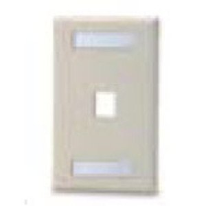 Bizline FPSG1PWLIVY Module Faceplate, 1-Port, 1-Gang, Ivory, Labeling Window, Limited Quantities Available