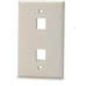 Bizline FPSG2PWHT Wall Plate, Snap-In, 1-Gang, 2 Port, White