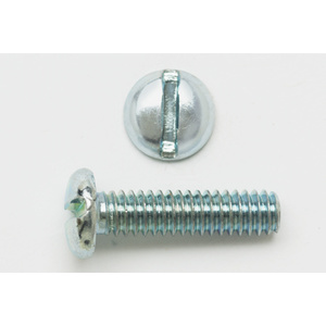 "Bizline G1032X516PHSMSSS Sheet Metal Screw, Pan Head, Slotted, #10-32 x 5/16"", Stainless Steel"